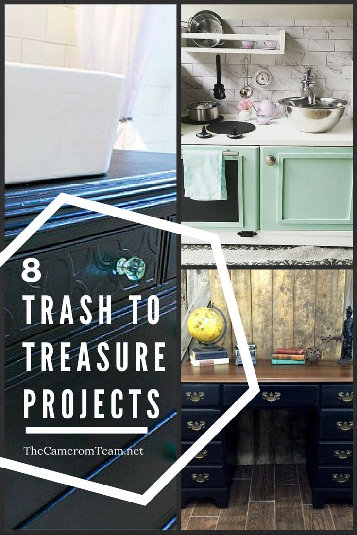 8 trash to treasure projects craft ideas pinterest. Black Bedroom Furniture Sets. Home Design Ideas