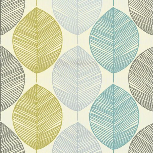 Retro Leaf Teal AND Green Wallpaper Arthouse | eBay