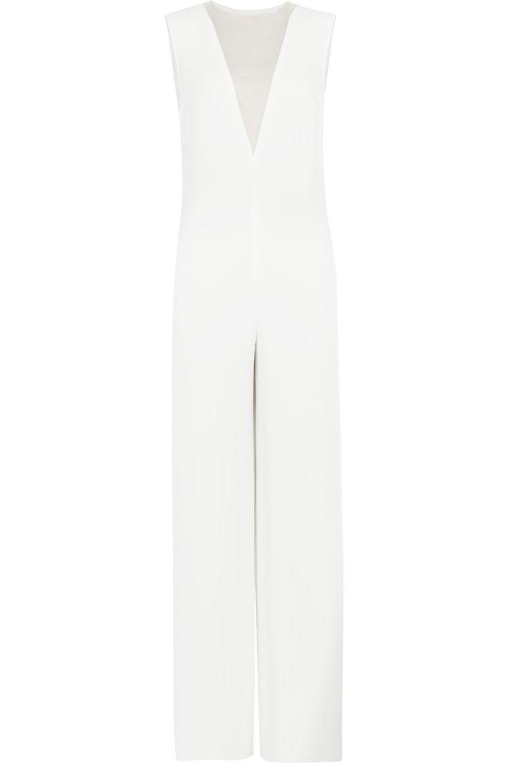 JOSEPH Iceland Silk Organza-Paneled Crepe Jumpsuit. #joseph #cloth #jumpsuit