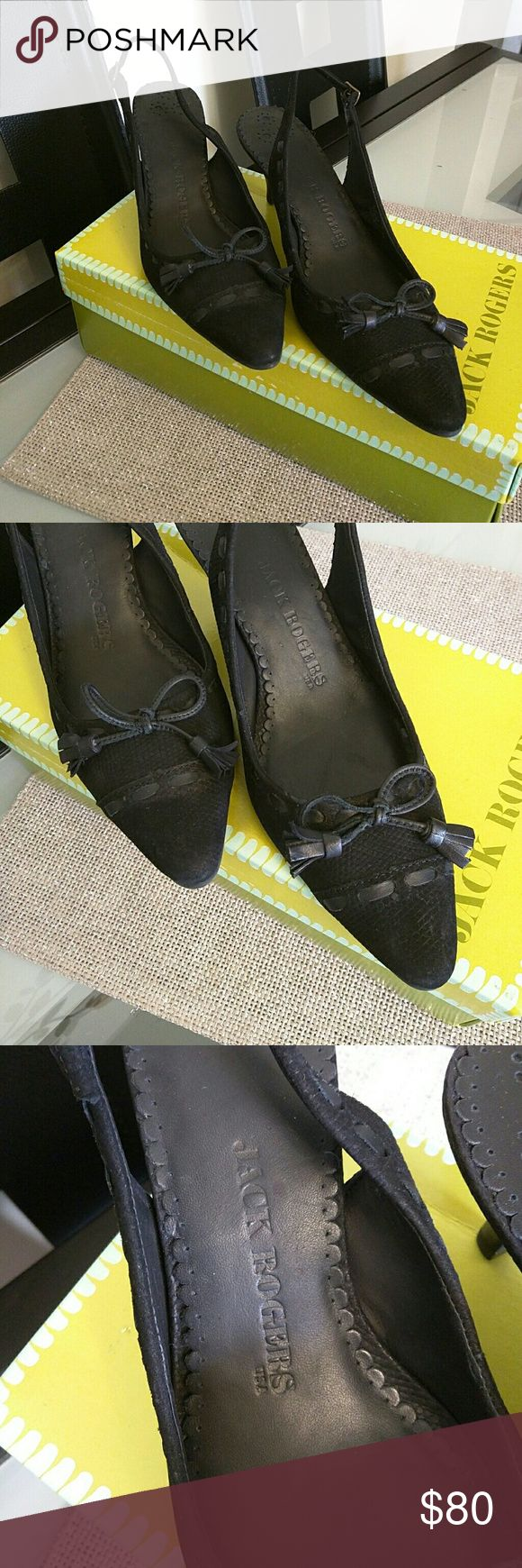 Jack Rogers Shoes. New, never been worn. Calf leather. Gorgeous! Jack Rogers Shoes Heels