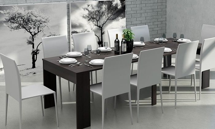 SELSEY Polska: Uitschuifbare tafel 50 cm - 270 cm in kleur naar keuze  € 279,99 (tot 60% korting) - Gratis bezorging