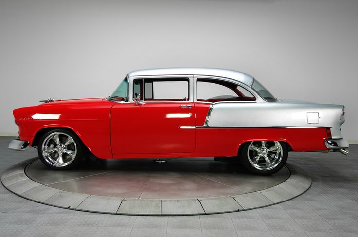 Chevy Chevelle 2016 >> Red & Silver 1955 Chevrolet Bel Air | RK Motors Charlotte ...