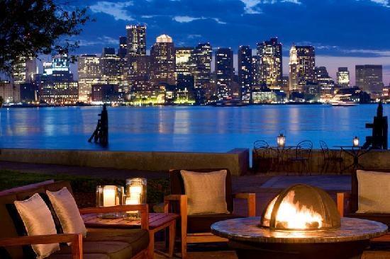 Love Boston and want to go back! Boston Harbor Patio at the Harborside Hyatt Hotel