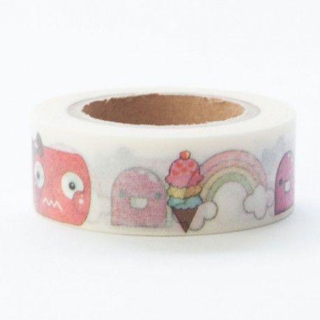 Masking tape monsters ijs regenboog € 2,95