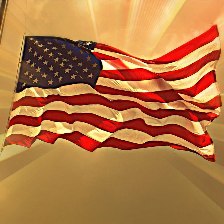 Flag on Liberty Island, NYC