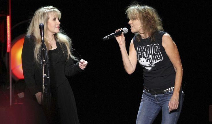 Stevie Nicks of Fleetwood Mac and Chrissie Hynde of The Pretenders performs during the Stevie Nicks: 24 Karat Gold Tour at Philips Arena on Sunday, November 6, 2016, in Atlanta. (Photo by Robb Cohen/Invision/AP)