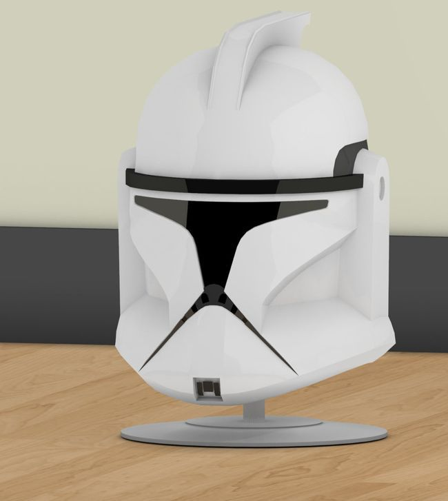 This Star Wars papercraft is a life size Clone Trooper Helmet, created by Jtm. The size of finished model is about 310 (H) x 233 (W) x 285 (D) mm. There ar