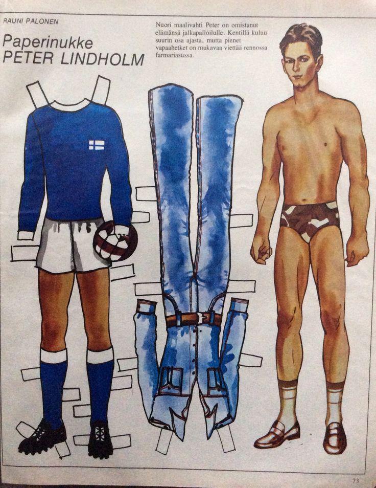 Paper doll Peter Lindholm 1975