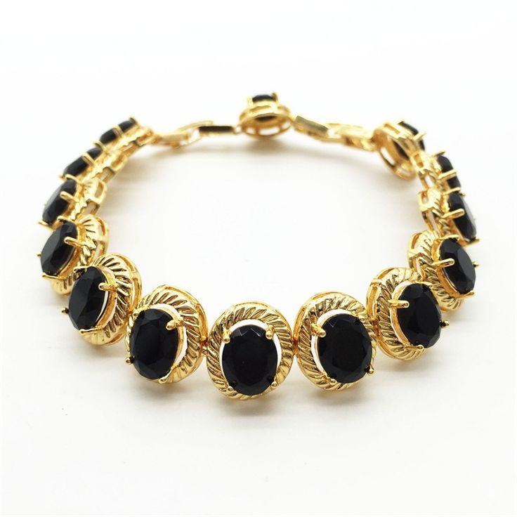 Teemi горячая новинка яйцо форма AAA черный цирконий теннисные браслеты для женщин роскошные свадебные браслет подарок ювелирные изделия