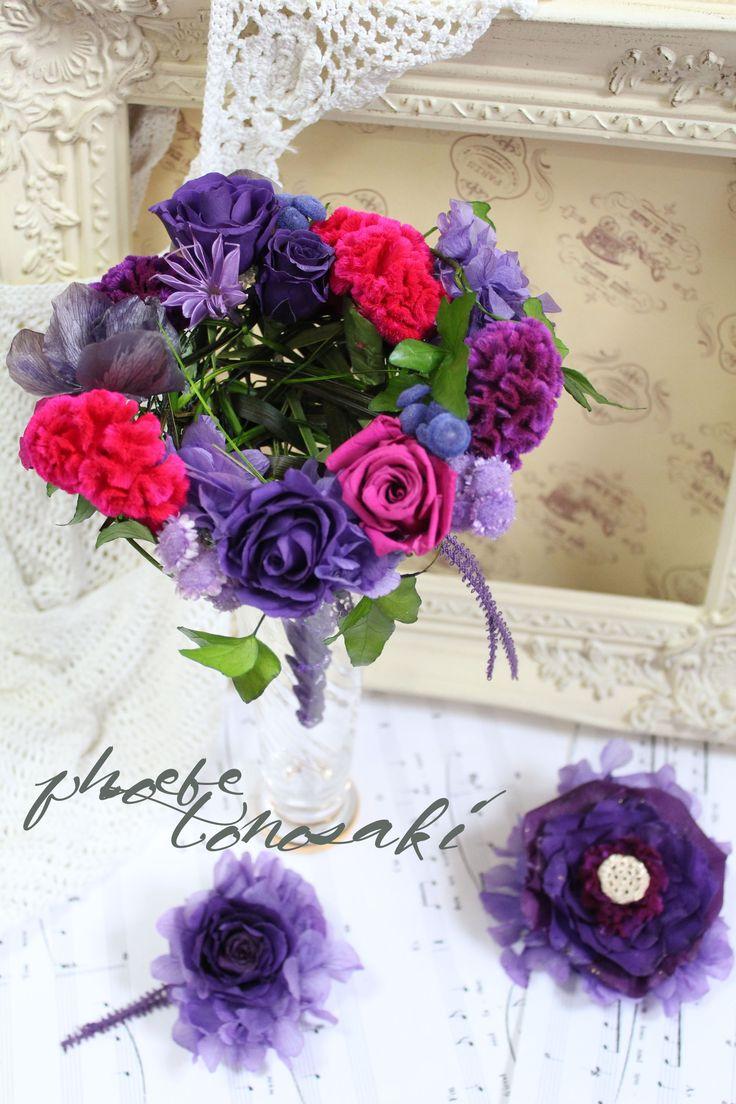 My preserved flower work - nest bouquet