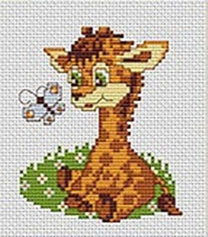 Baby Giraffe - Stretched Canvas