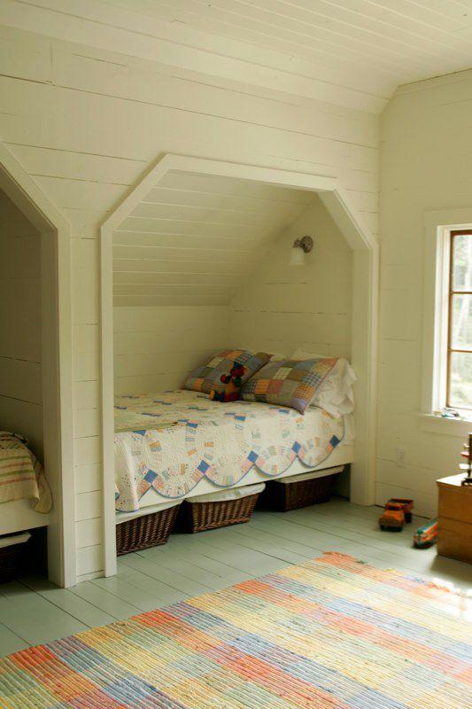 Best 25 slanted ceiling bedroom ideas on pinterest for Upstairs bedroom ideas