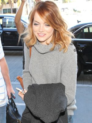 Looking to spice up your hairstyle? Take a cue from Emma Stone's strawberry blonde bob.