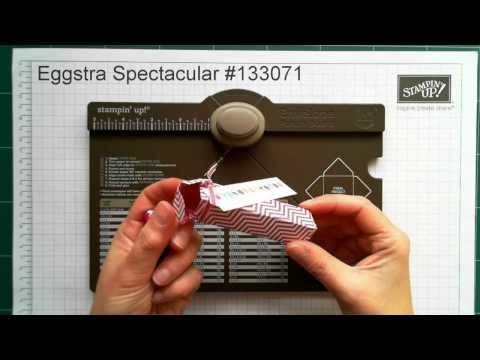 Make Any Size Box using your Stampin' Up! Envelope Punch Board: Easter Mini Egg Box - YouTube