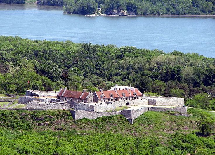 Fort Ticonderoga (Fort Carillon), New York was built by the French in the 18th century