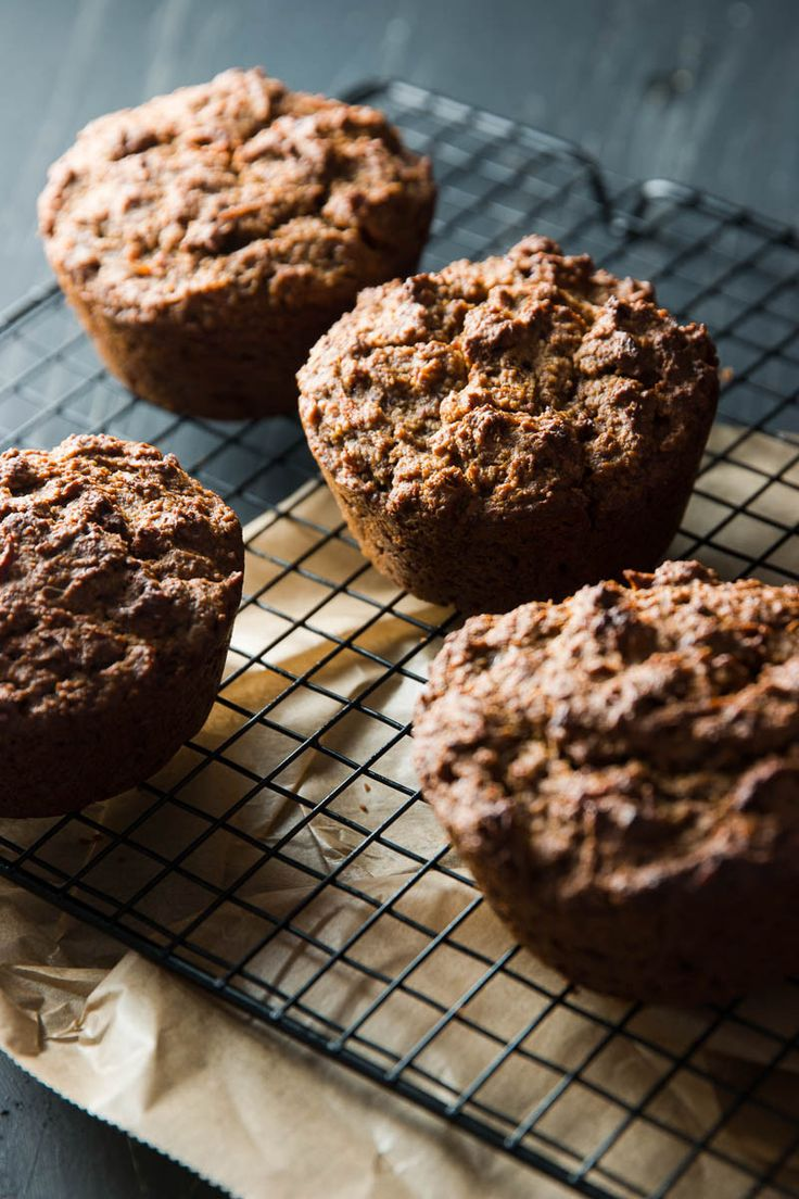 These vegan multigrain carrot muffins are completely gluten-free and instead chock-full of oats, buckwheat and nuts. They're also white sugar free - healthy enough for breakfast.