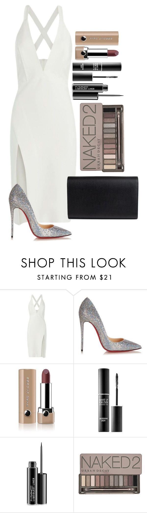 Untitled #1614 by fabianarveloc on Polyvore featuring Mason by Michelle Mason, Christian Louboutin, Marc Jacobs, MAKE UP FOR EVER, MAC Cosmetics, Urban Decay and Yves Saint Laurent