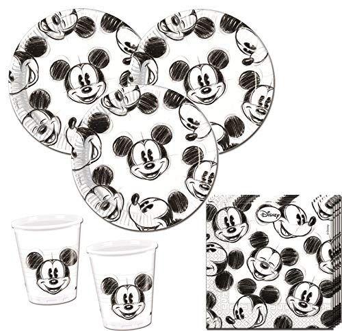75 Teile Disney Micky Maus Sketch Party Deko Set für 25