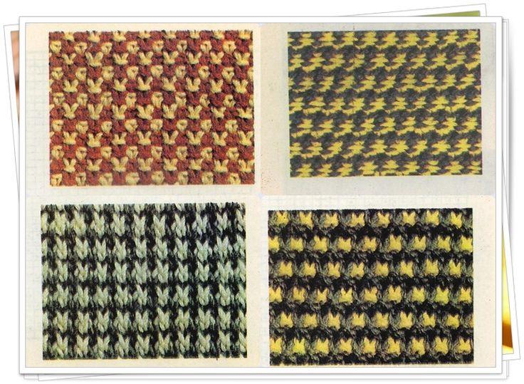 Двухцветные узоры «крапинка», «крестики», «глаз куропатки» и «гранулы».