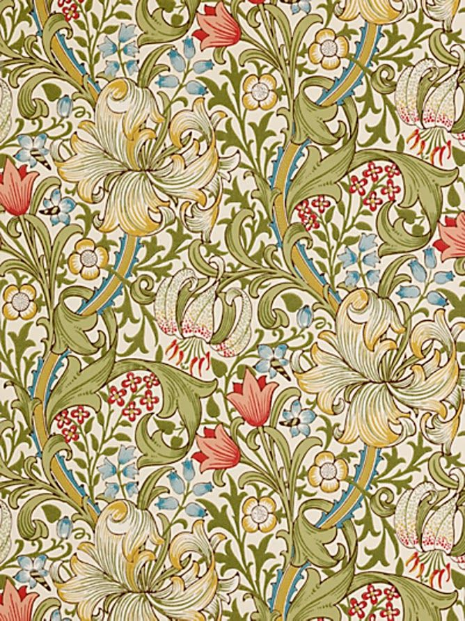 60 best jacobean crewel images on pinterest jacobean embroidery this is the greenred colourway of the golden lily wallpaper by morris co fandeluxe Images