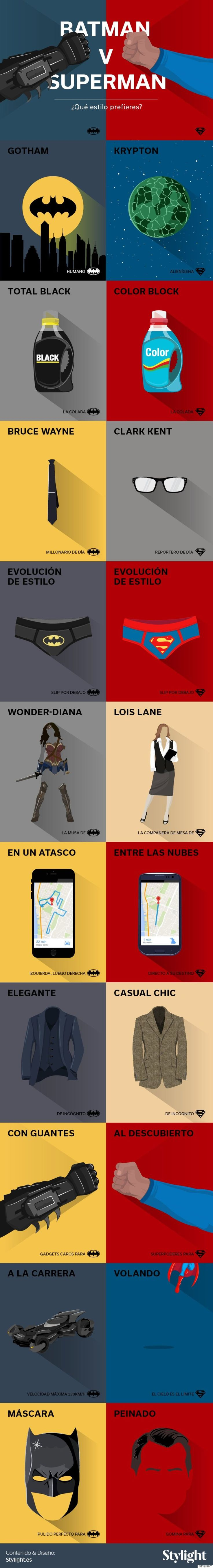 Batman vs. Superman: la batalla de estilo definitiva (INFOGRAFÍA)
