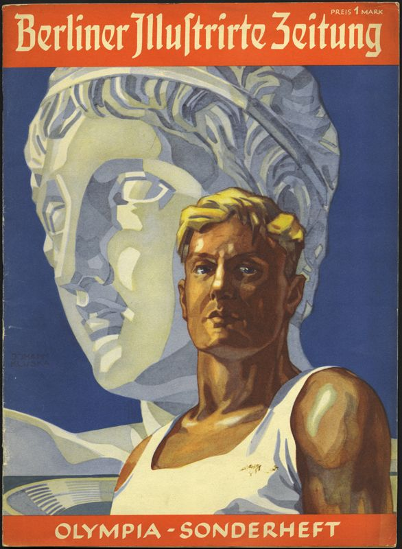 Advertisement for the 1936 Berlin Olympics