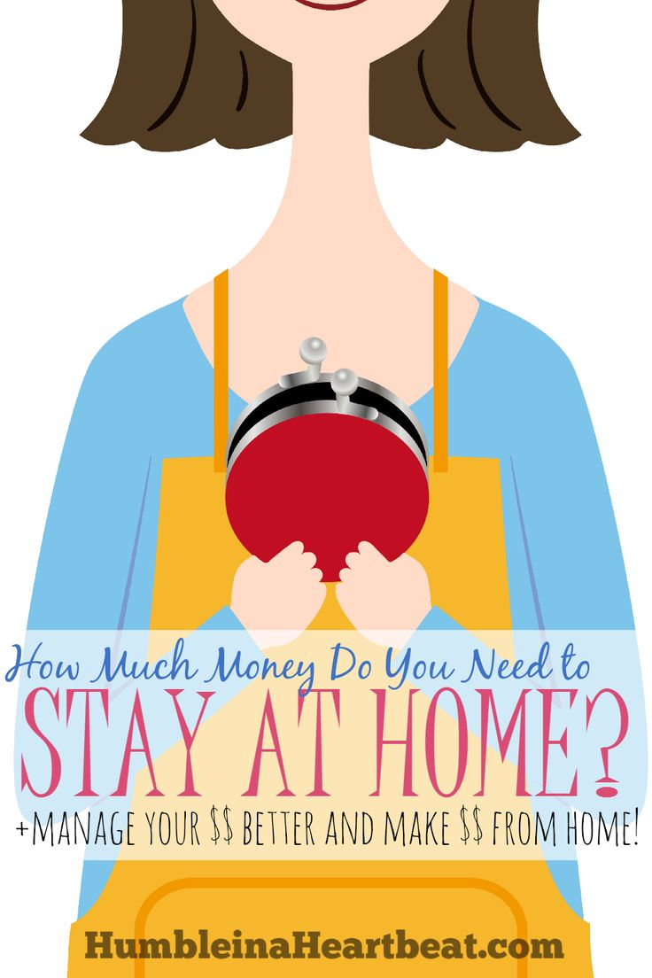 What's the magic number for being a stay-at-home mom? Find out if you can be a stay-at-home mom, and discover ways to manage your money better and make money from home!