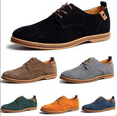 Новый Топ мужской модный большой размер из натуральной замши обувь кружево вверх кроссовки повседневные туфли