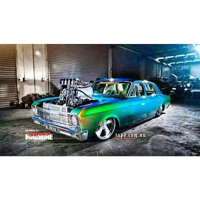 #streetmachine #ford #blower #burnoutcar #dragcar #insane #australianmusclecar #aussiecars #australiacarscene #showcar #slammed