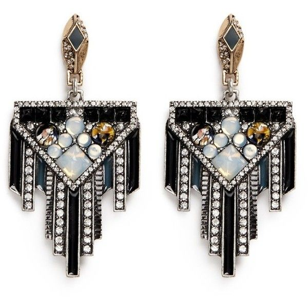 Lulu Frost Citadel Gl Opal Drop Earrings Found On Polyvore Featuring Jewelry American Art Deco D