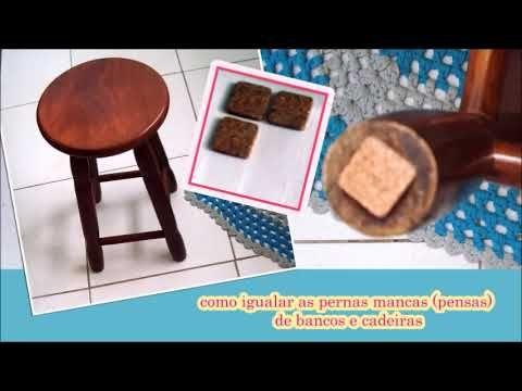 Casa e Fogão: Vídeo - Truque para dar um jeito no banco ou cadeira na perna que está mancando