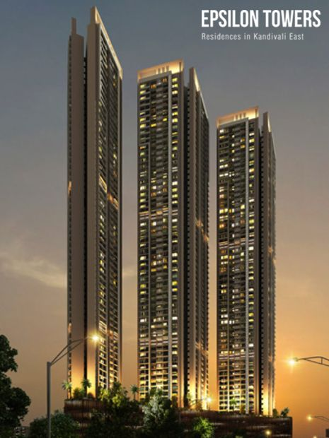 Epsilon Towers - Luxury Property for Sale in Kandivali.  Epsilon Towers by SD Corp offers luxury 2 and 3 BHK homes in Kandivali Mumbai. The most sought-after property for sale in Kandivali East.