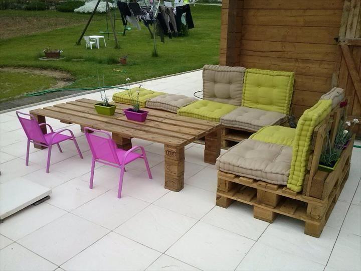 Pallet Garden Furniture   101 Pallet Ideas