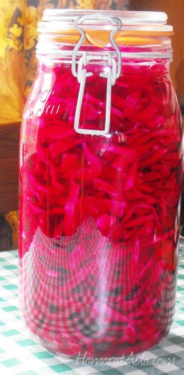Turşular arasında rengiyle ve tadıyla çok sevilen bir tarif geliyor şimdi.Basit ve lezzetli Kırmızı Lahana Turşusu.