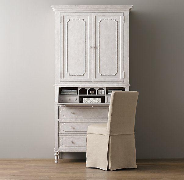 Bellina Secretary Desk & Hutch Set