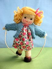 I need to learn to knit her patterns are adorable !!! pencil dolls- If you'd like to make a Pencil Doll you'll need small amounts of double knitting yarn (light worsted in the US and 8 ply in Australia). You'll also need a pair of 3.25mm needles (US size 3) Body - cast on 12 stitches. Knit 10 rows  in plain garter stitch. Cast off.  Head - cast on 12 stitches, Knit 10 rows in stocking stitch (alternate a knit row with a purl row). Don't cast off. Cut the yarn leaving a 15cm (6in) tail and…