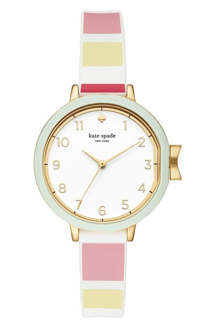 Park row silicone strap watch, 34mm. Gold WatchesLeather WatchesWomen's  WatchesRowingKate SpadeParksNordstromAccessoriesFemale Watches. Kate Spade  New York ...