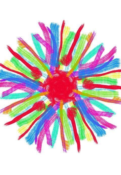 Chakra del sol de todos los colores