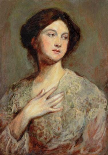 Székely Bertalan (1835-1910) - Női portré
