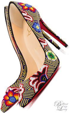 Brilliant Luxury * Christian Louboutin 'Miss Taos' Beaded Pumps SS 2016