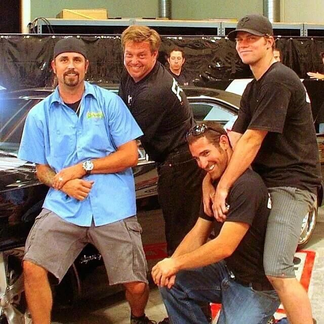 Richard Rawlings and Arron (without the beard) from Fast N Loud - back when they were on Overhaulin