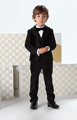 love dressing my boys up in suits, especially a Gucci one like this!