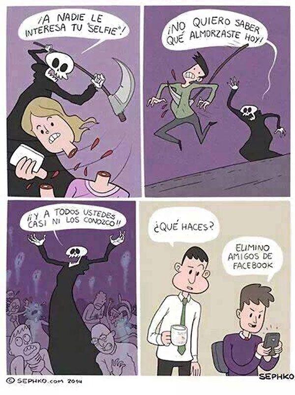 Eliminando amigos de Facebook. #humor #risa #graciosas #chistosas #divertidas
