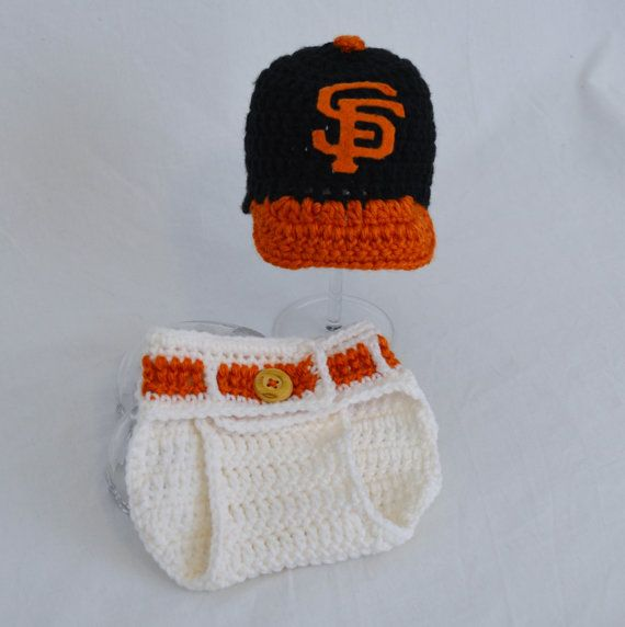 San Francisco Giants BaseBall Hat and Diaper by kernscraftcorner