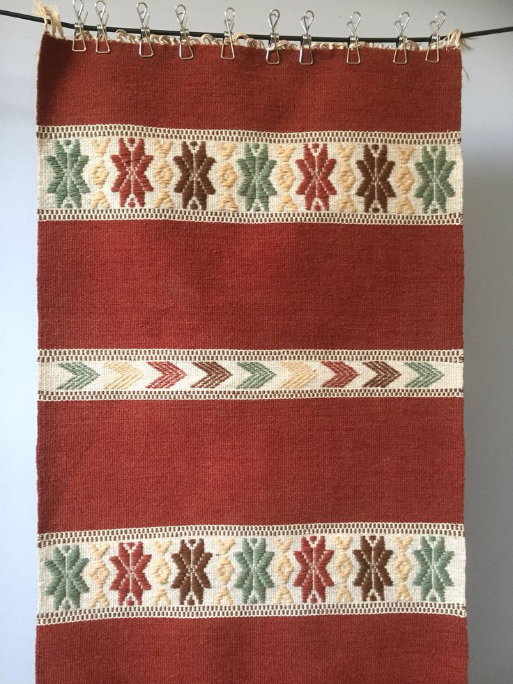 Swedish/folk art/woven/rug/hand loomed/wall hanging/traditional by WifinpoofVintage on Etsy