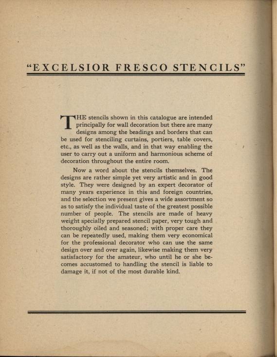 Excelsior fresco stencils.