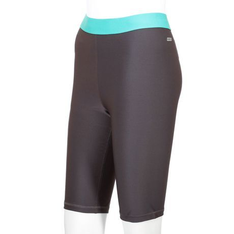 Walmart, Athletic Works Women's Cycling Short, $14.97, • 85% Polyester • 15% Spandex • Elasticized waist • Moisture wicking DRI-MORE Technology • Machine wash cold • Only non-chlorine bleach when needed • Tumble dry low • Low iron