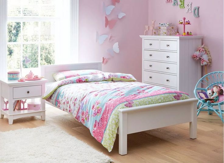 Hutchin White Single Wooden Bed Frame