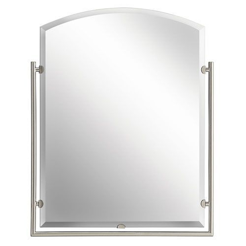 Structures Brushed Nickel Mirror