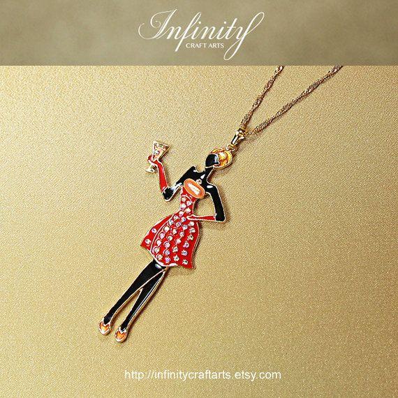 #Rhinestone #Enamel #Fashion #Lady #pendant by #InfinityCraftArts https://www.etsy.com/ca/listing/241497760/rhinestone-enamel-fashion-lady-pendant?ref=shop_home_active_2